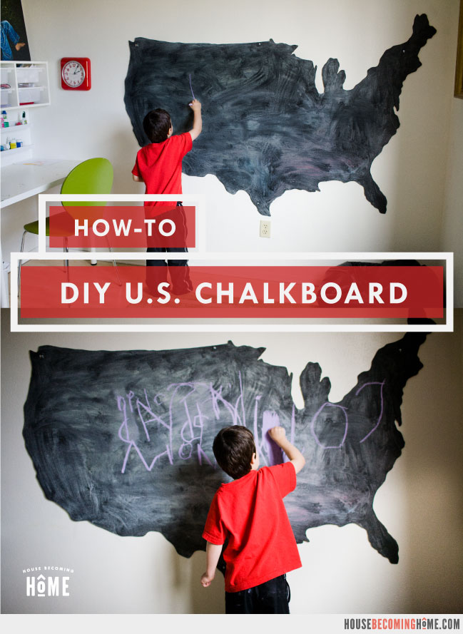 How To Make a U.S. Chalkboard