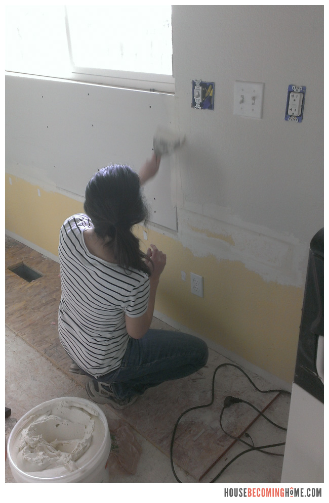 DIY Kitchen Reno new drywall