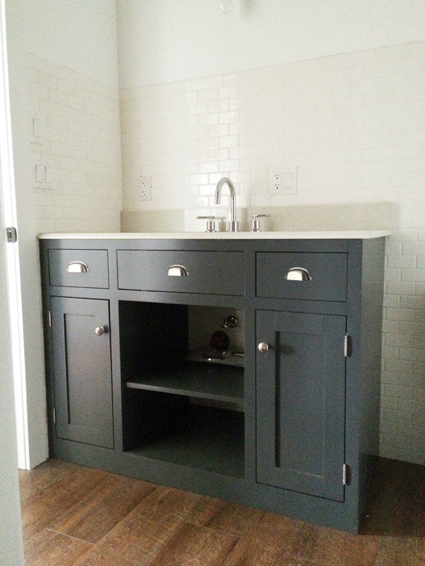 Ana White Grey Bathroom Vanity Cabinet DIY