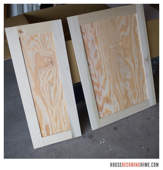 DIY shaker style cabinet doors unfinished