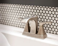 Brushed Nickel Bathroom Faucet