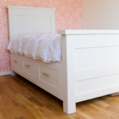 DIY Twin Bed With Drawers