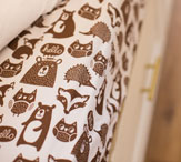 Kids Twin Sheet set with forest animals