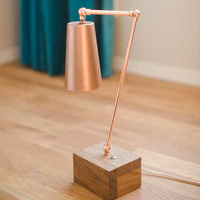 DIY Copper Light made from cup and copper pipe