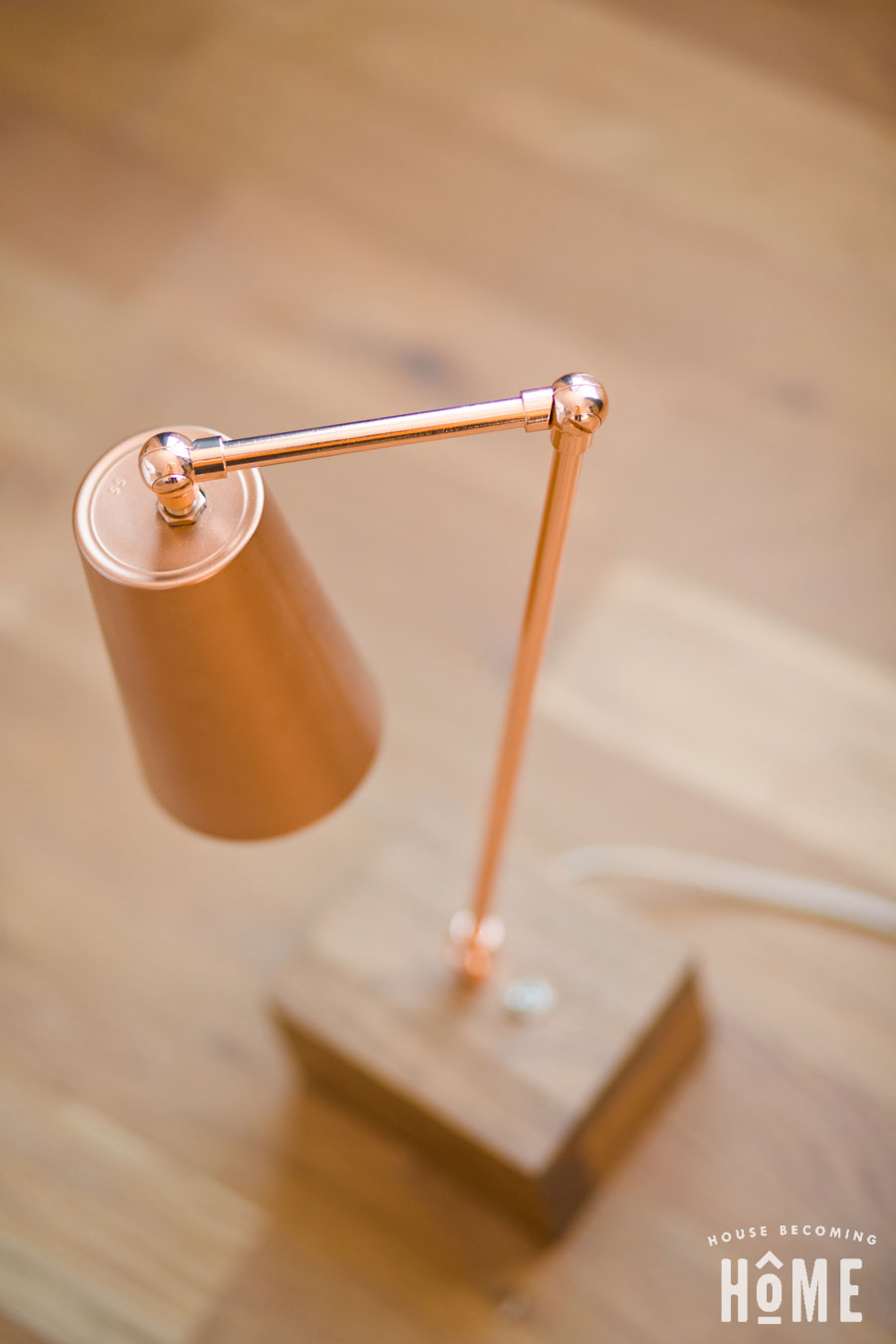 DIY Copper Light made from cup and copper pipe top view