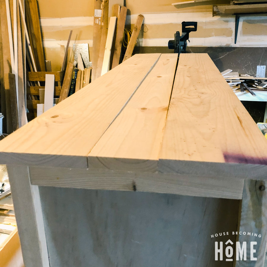 Cabinet top from 1x scraps