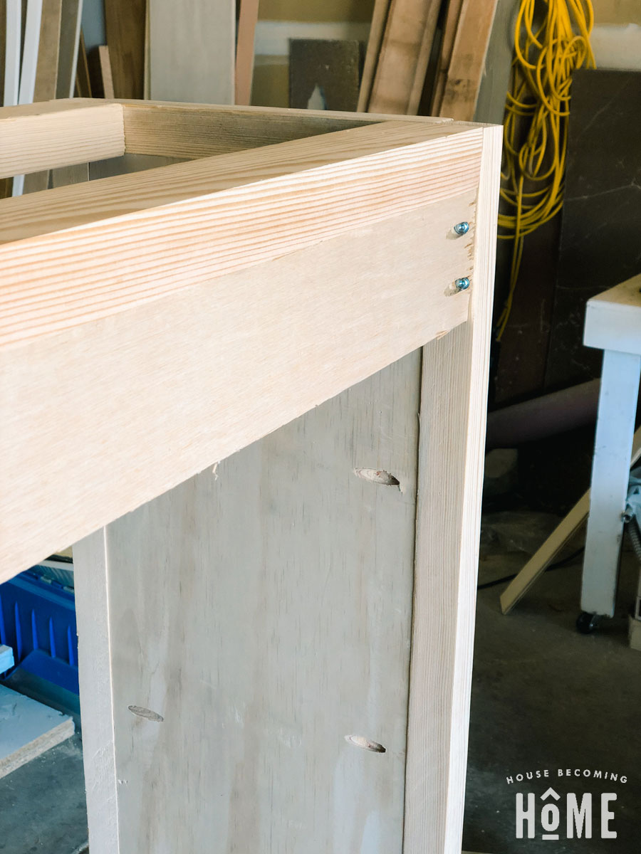 DIY Shoe cabinet back support for anti-topple