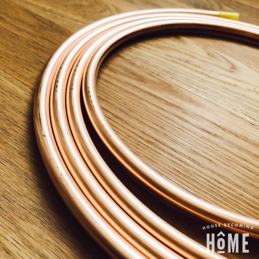 copper pipe for DIY light