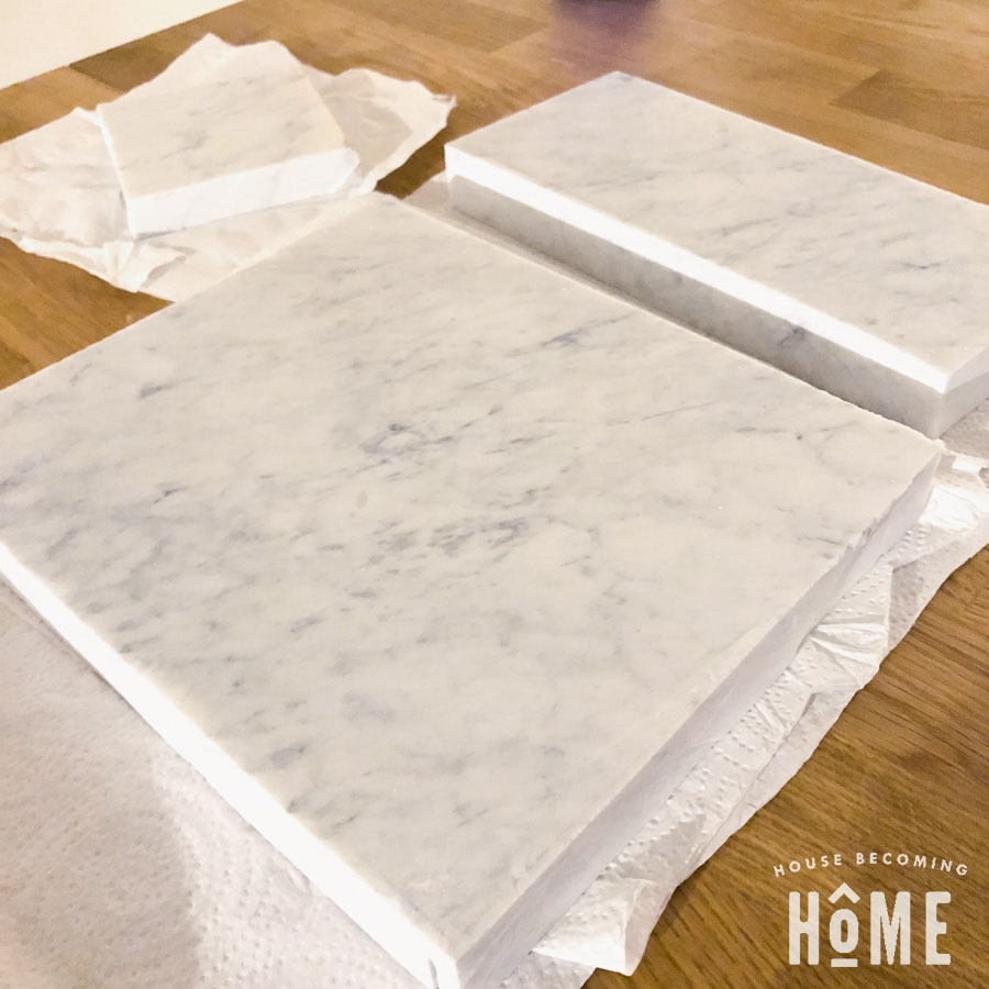 cutting marble for DIY light