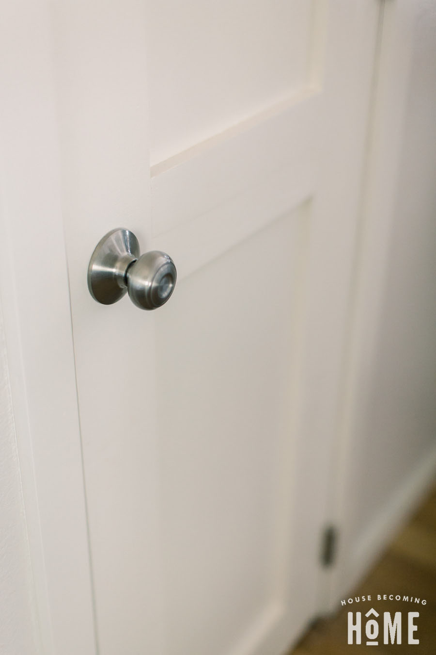 Cutting a hole for the door knob in a DIY solid core door