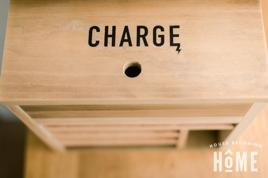 How To Print On Wood : Charge Icon Printed on Charging Station