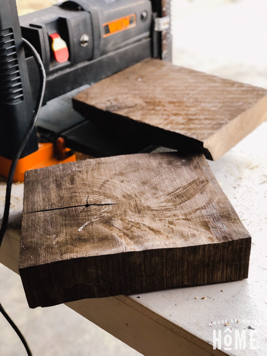 Thick Cut of Walnut for DIY Stool