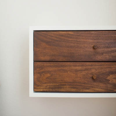 How to Build a Simple Floating Modern Nightstand. Free plans and tutorial.