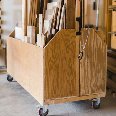 Free Printable PDF plans. How To build a scrap wood organizer cart. Simple and Affordable.