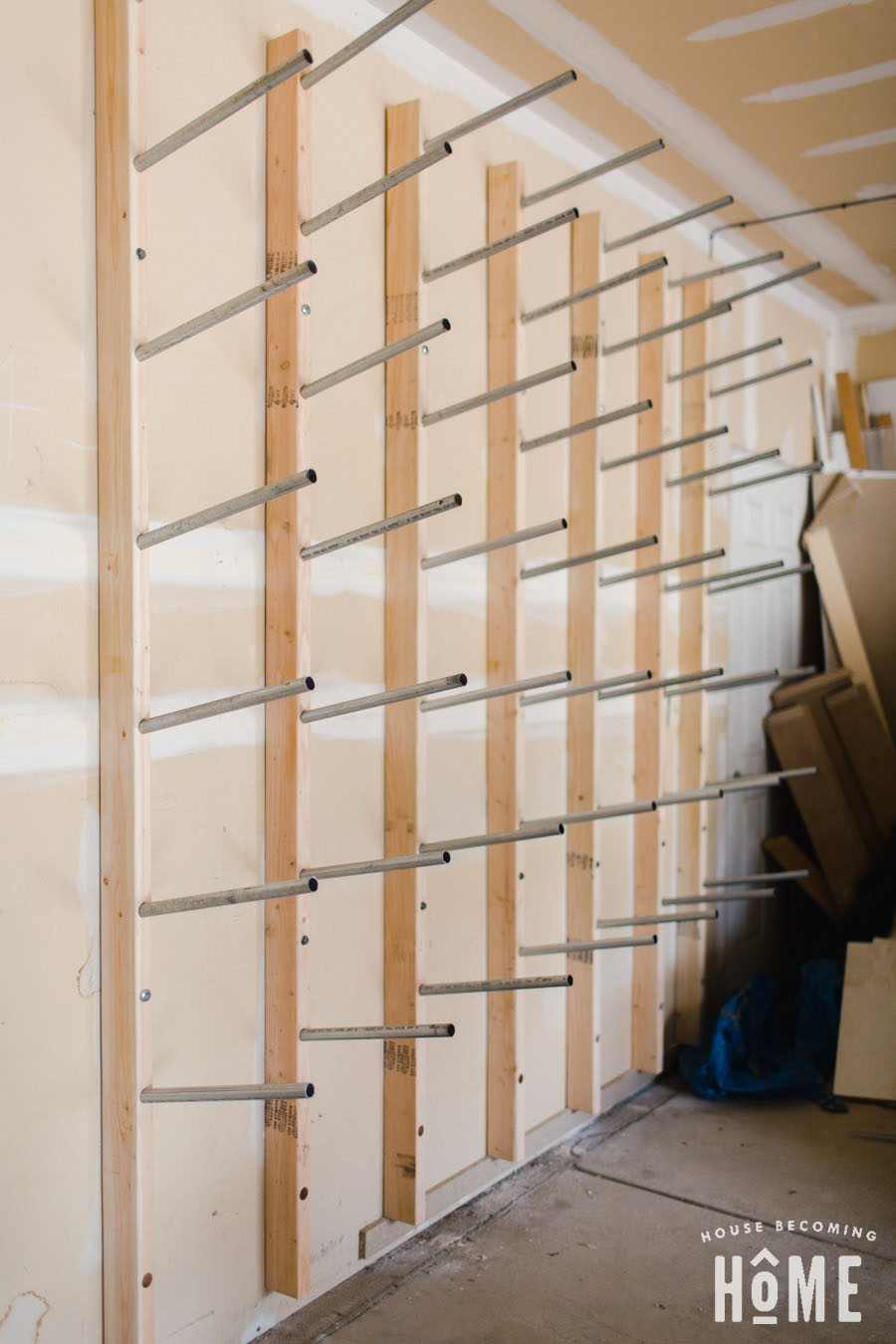 How to Build a DIY Lumber Rack from 2x4s and Conduit Tube