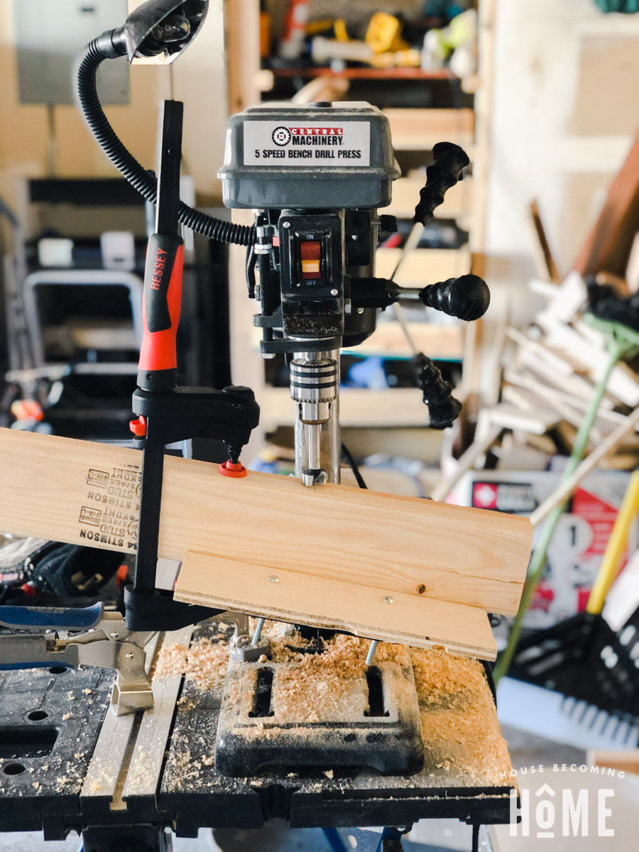 Using a Drill Press for DIY Lumber Rack