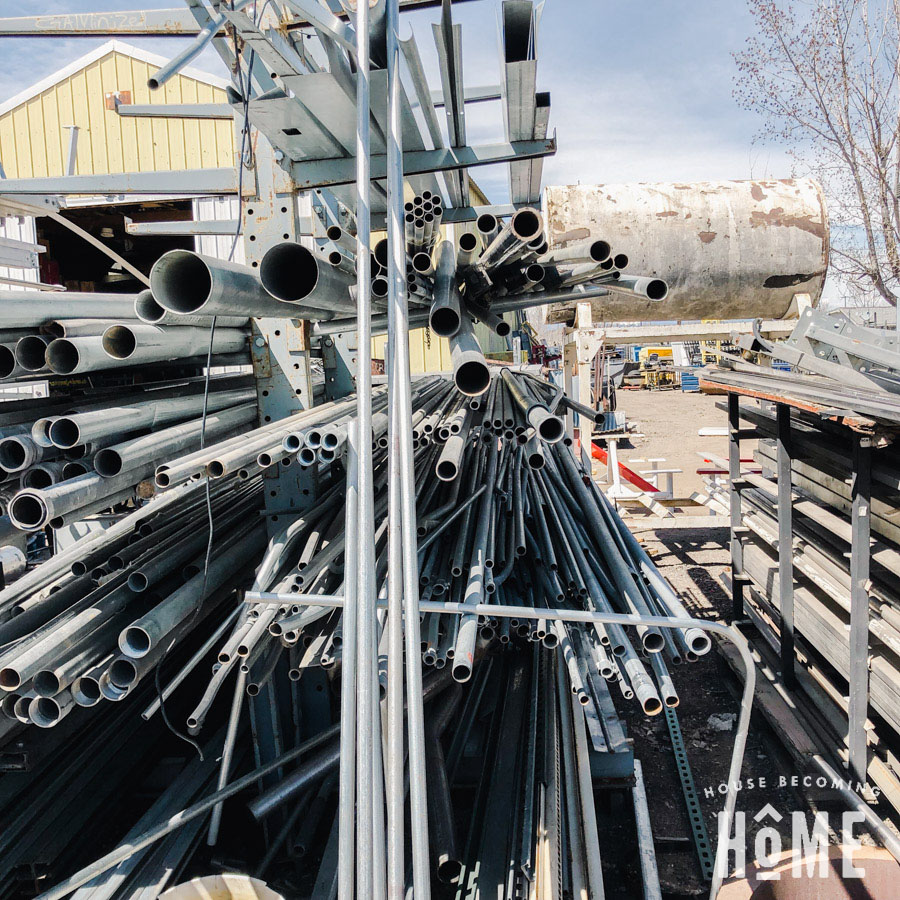 Conduit for Lumber Storage Solution at a Steel Yard