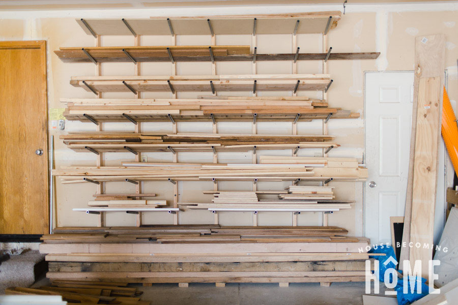 Wide View - Build an Affordable Lumber Storage System