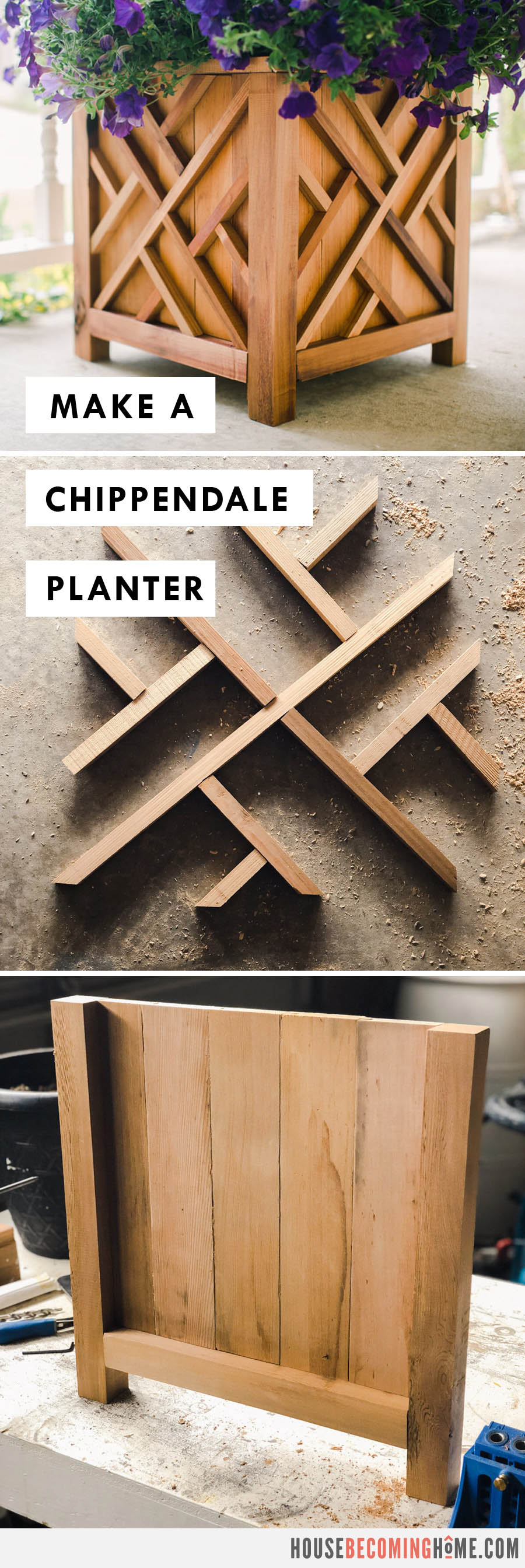 Make a Chippendale Planter : Free PDF Plans and Instructions