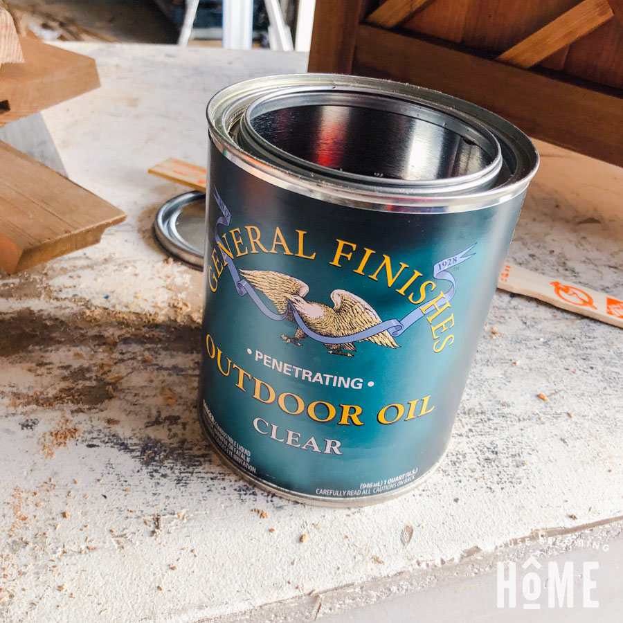 General Finishes Outdoor Oil on Cedar Planter