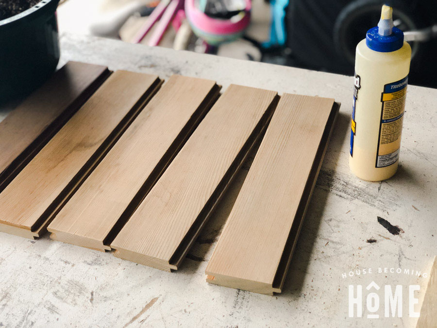 Cedar Tongue and Groove for DIY Chippendale Planter