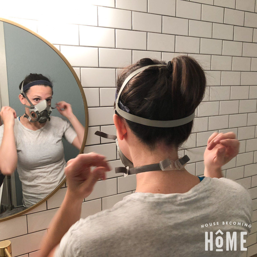 Wear a Protective Mask While Painting Bathtub