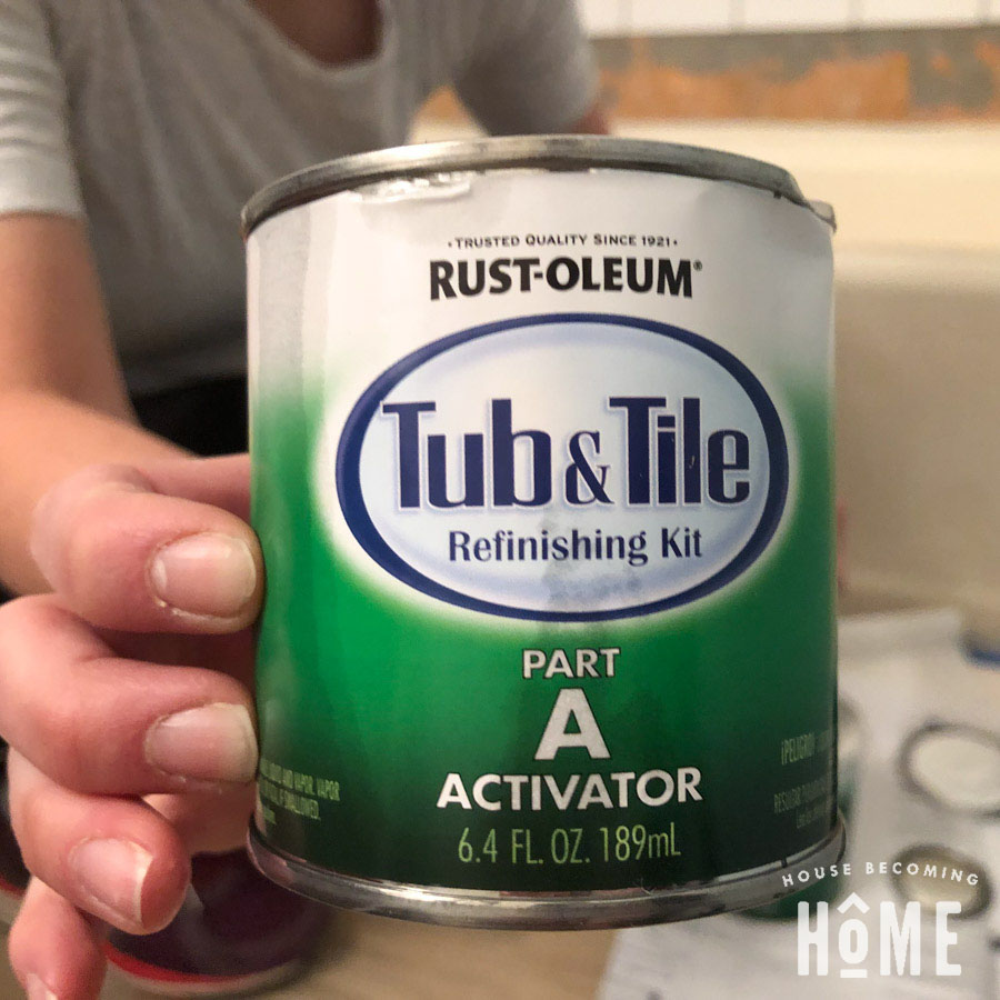Mix Activator in Rustoleum Tub and Tile Paint