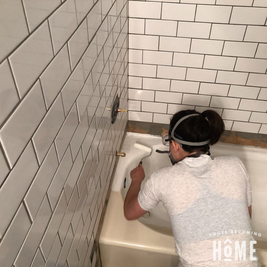 How to Paint a Bathtub with Rustoleum Tub and Tile