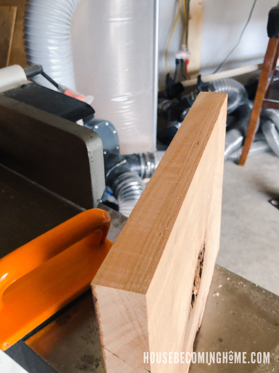 Jointing Rough Cherry Wood to make Wooden Soap Dish
