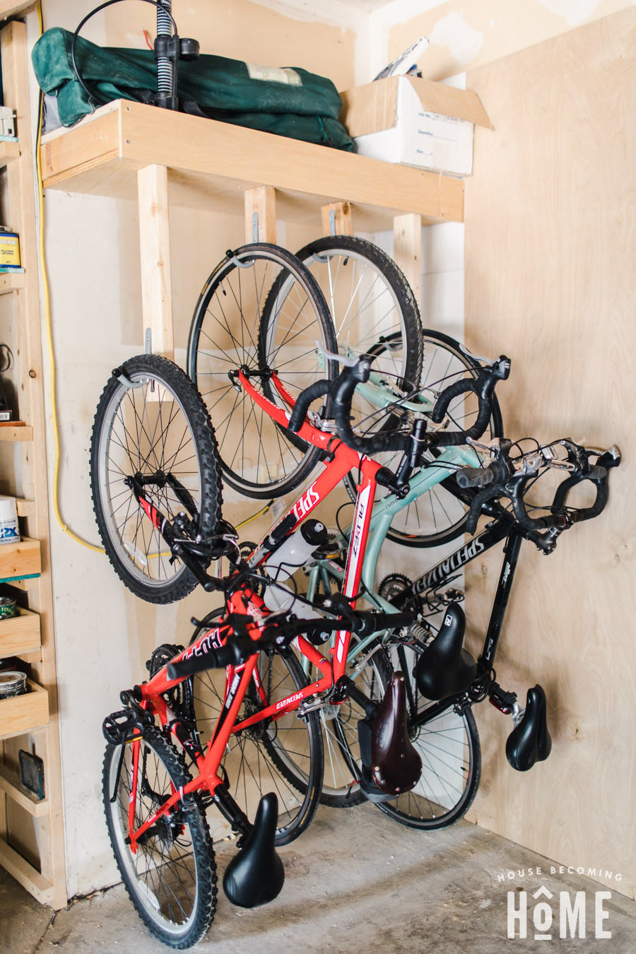How to Make an Easy and Affordable Space-Saving DIY Bike Rack