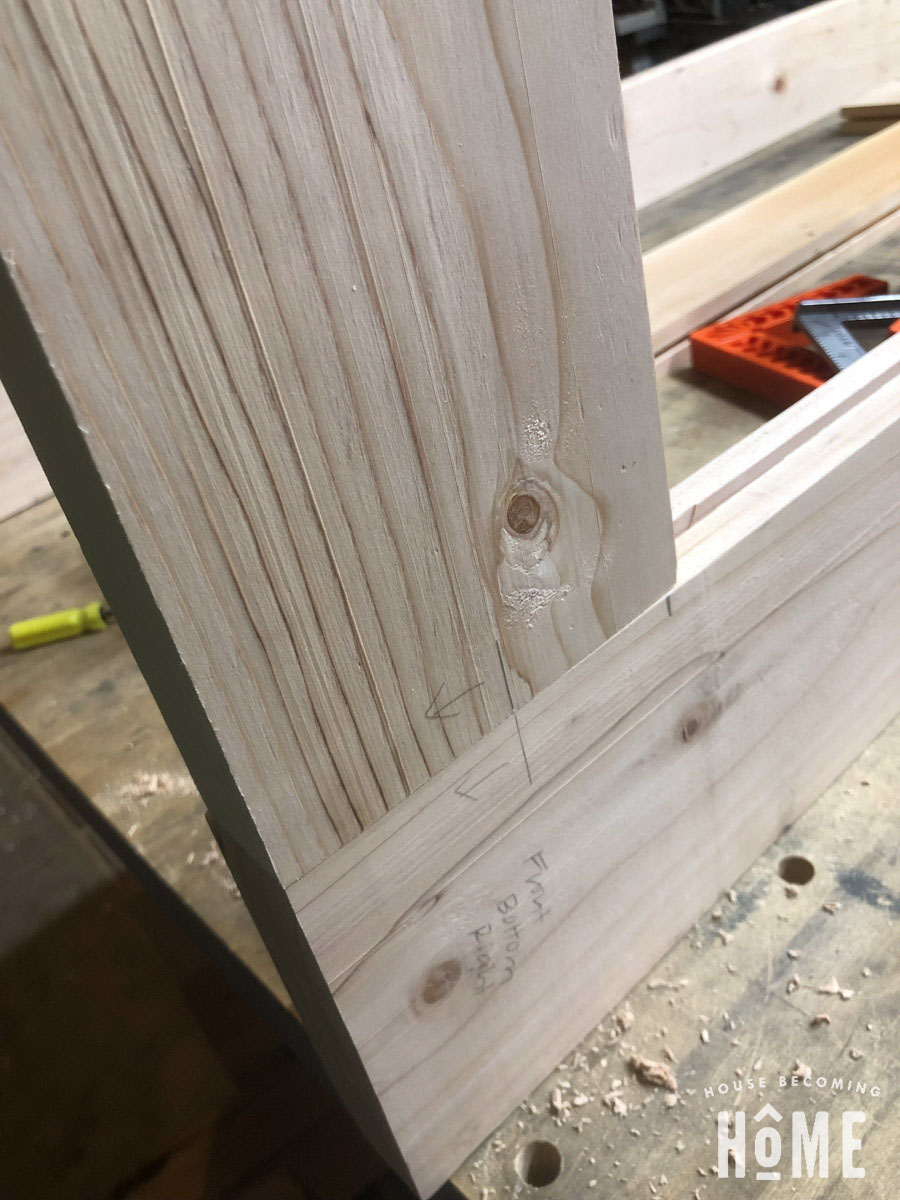 Matching Mortises Beadlock Joinery Door