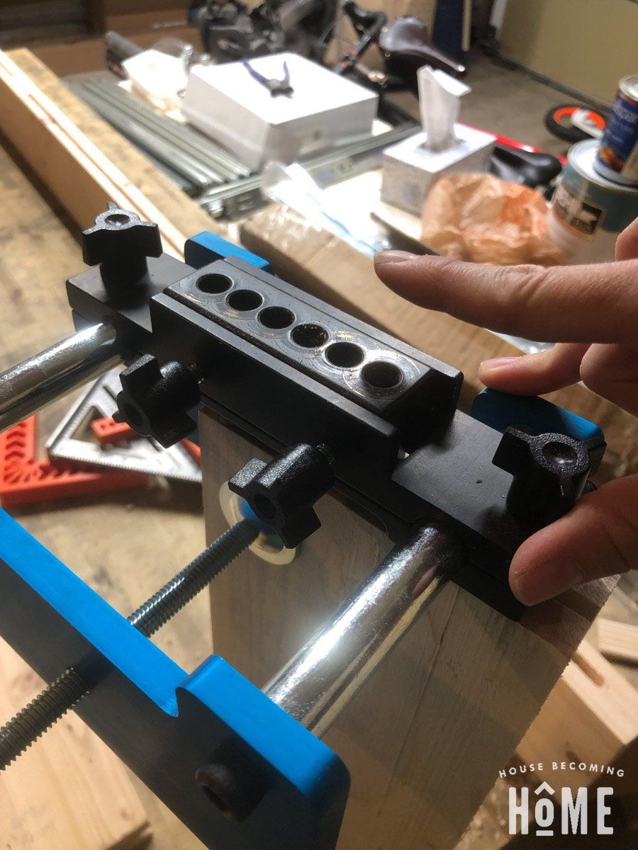 Rockler Beadlock Jig Drilling Second Mortise