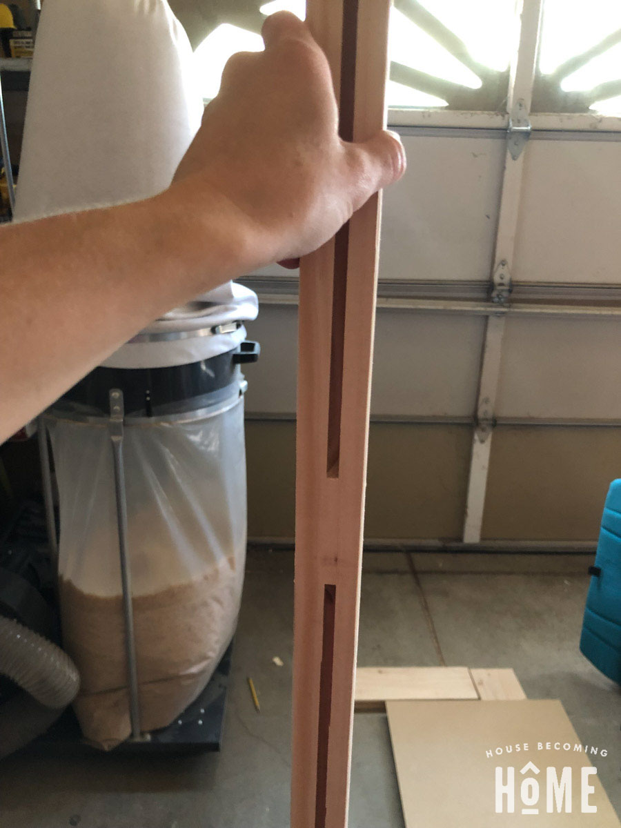 Slots routed in DIY 3-Panel Door