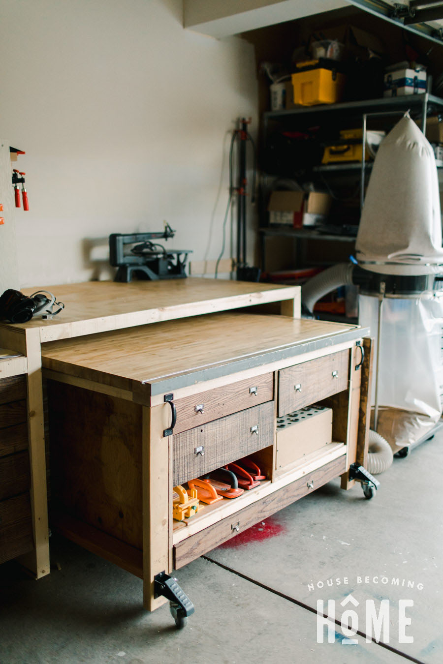 Assembly Table Storage Under Workbench