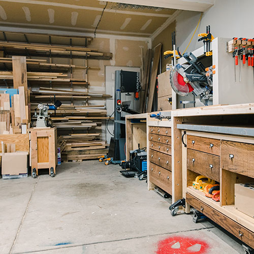 Converting a 2 Car Garage into a Woodworking Workshop