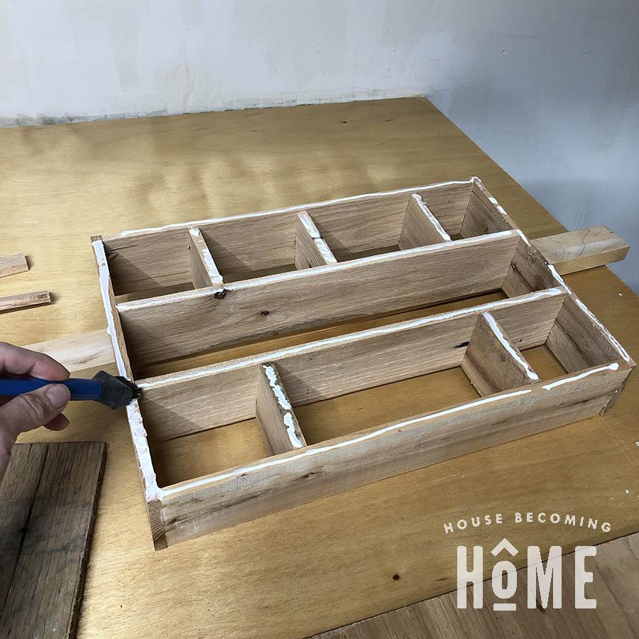 DIY Hardware Drawer Organizer Process
