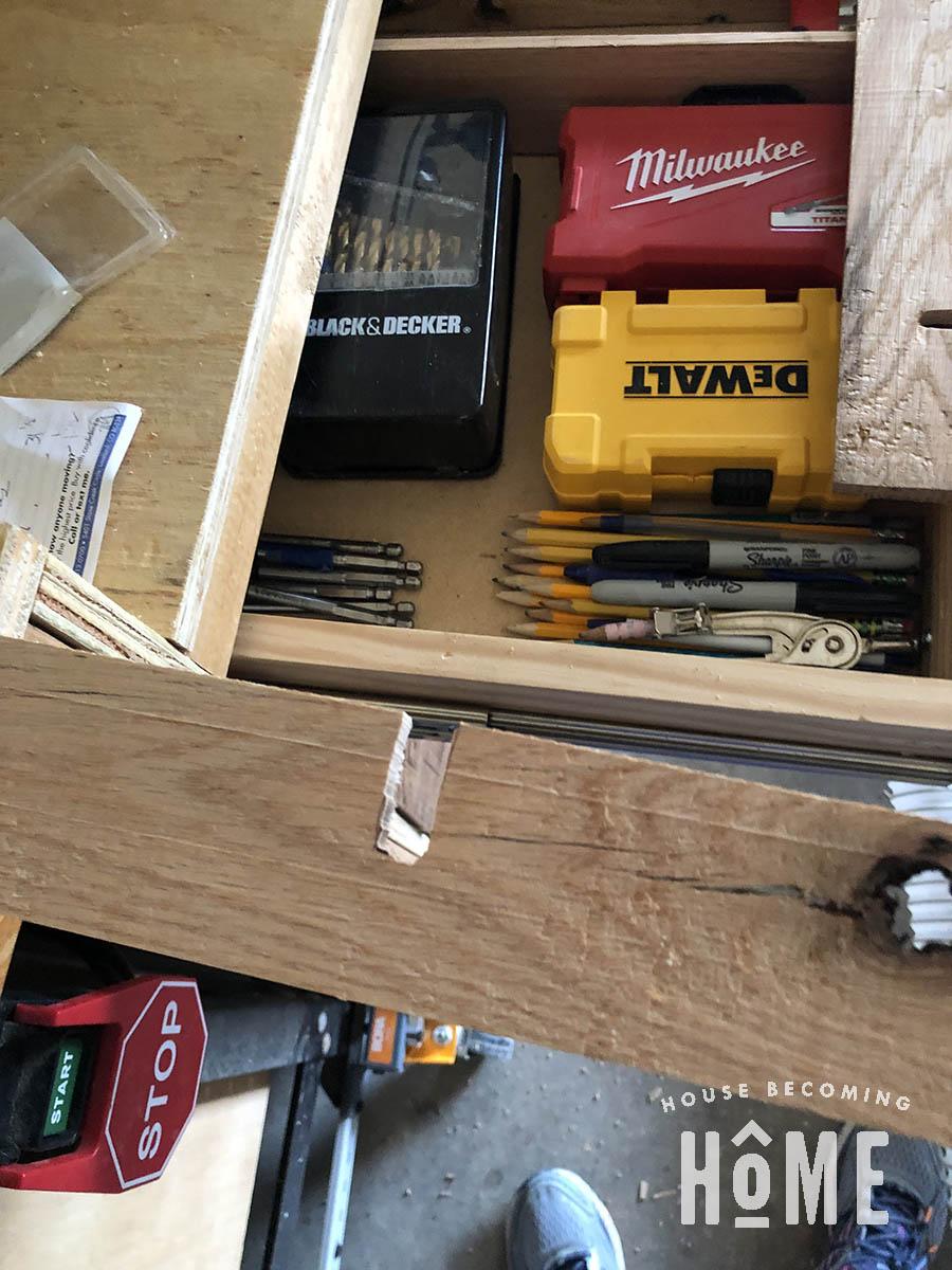 Making Drawer Organizers for Garage Workshop