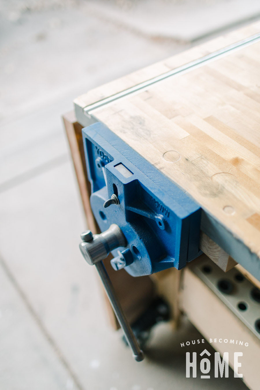 Vise for DIY Workbench