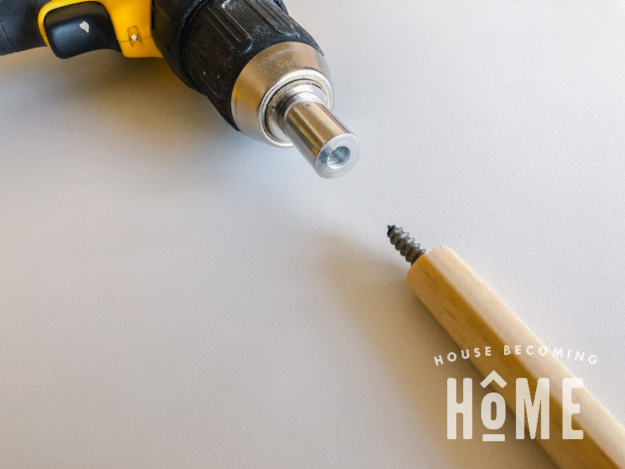 Adding a Two Sided Screw to a Dowel
