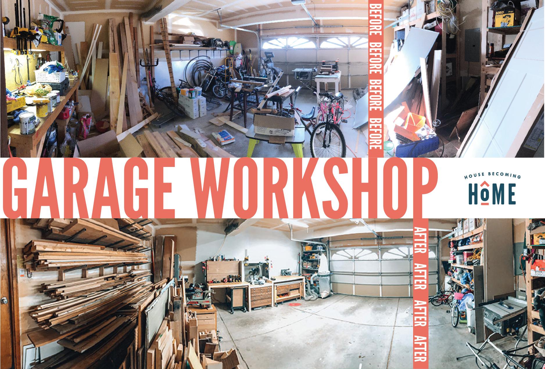 Garage Workshop Before & After Makeover