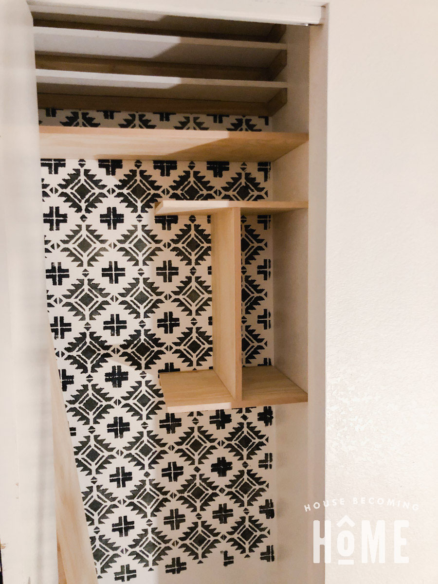 Install Organizational Dividers for Coat Closet Wide View