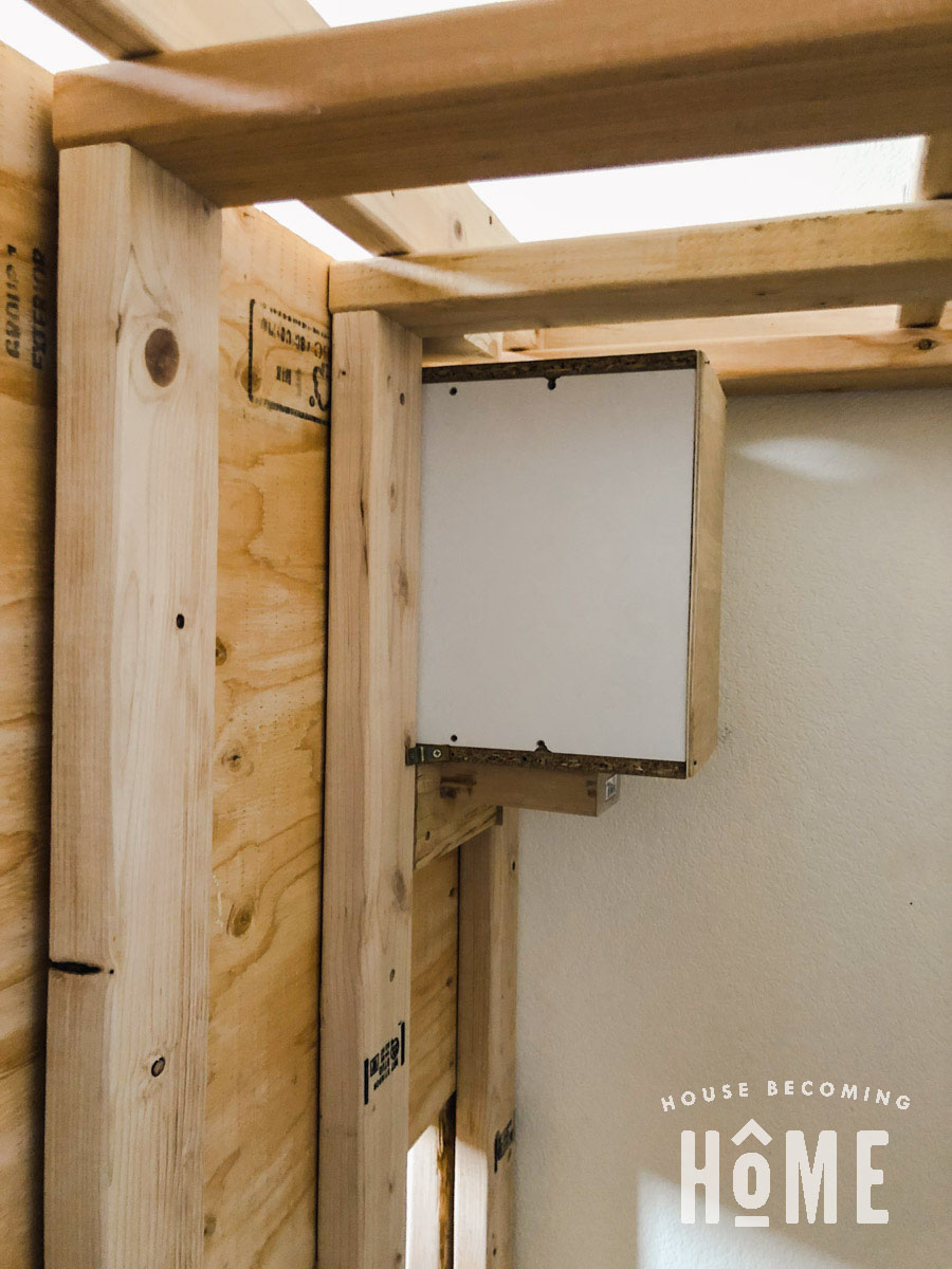 Back View of Book Nook Support for Built in Bunk Beds