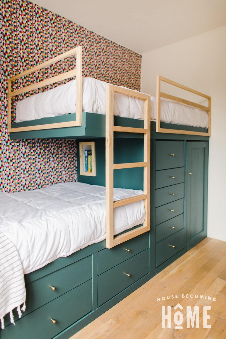 Book Nook inside Built in Bunk Beds