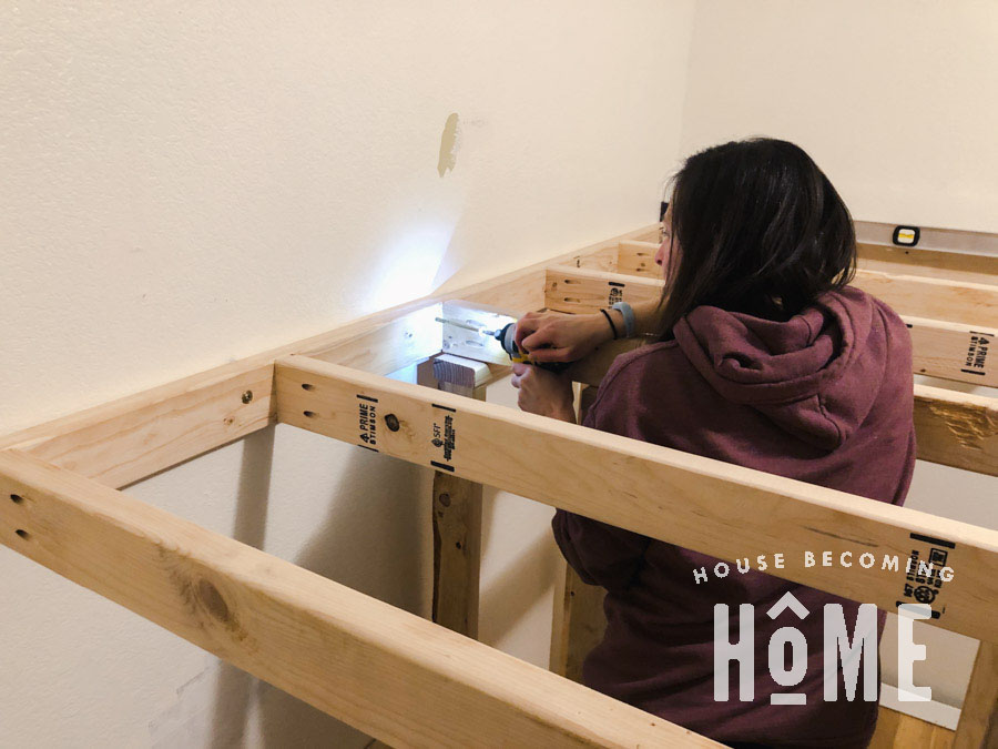 How to Securely Attach Bunk Bed to Wall with Spax Screws