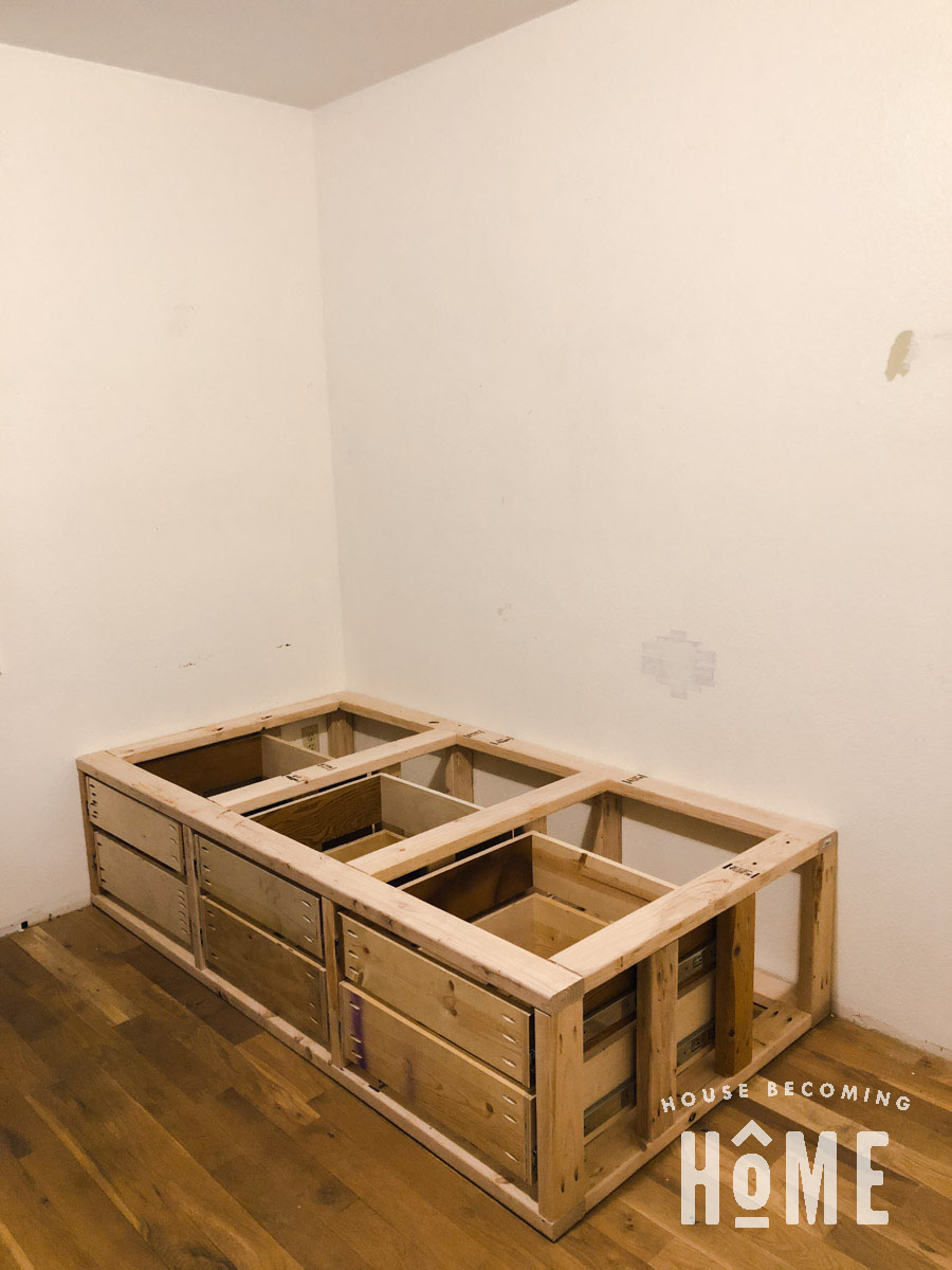 Making Drawers for Built in Bunk Beds