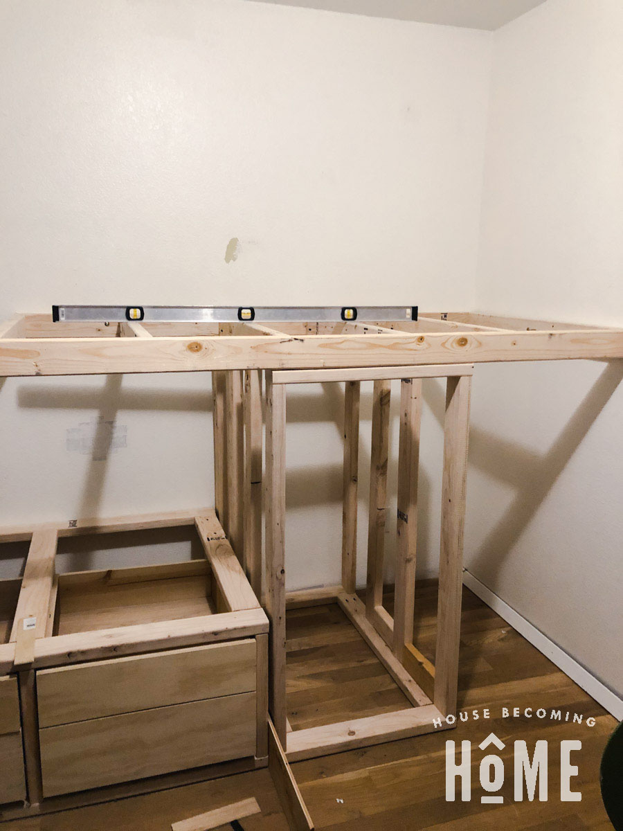 Making Top Bunk Level