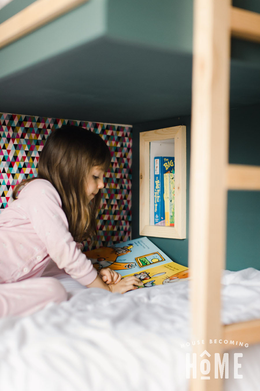 Reading Area in Offset Bunk Beds