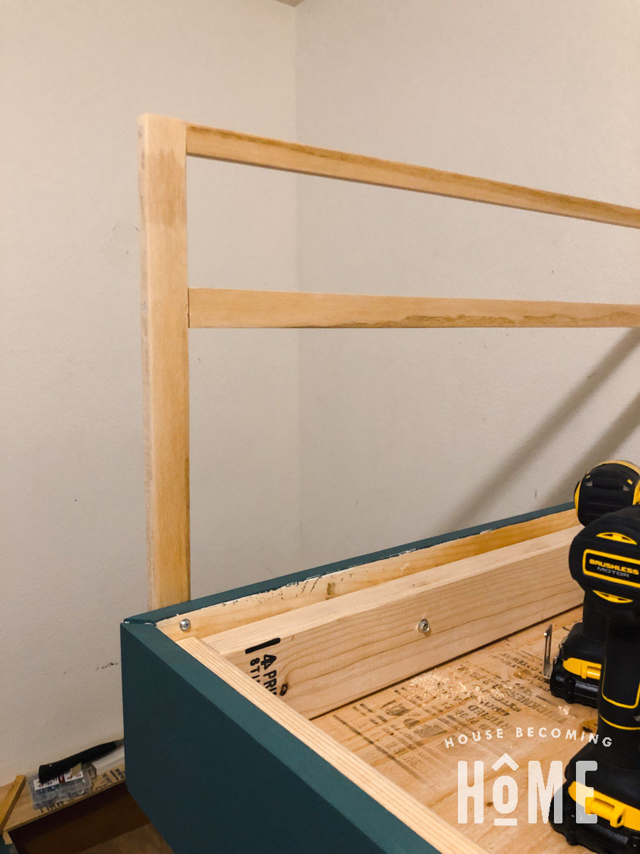 Screws to Attach DIY Bunk Bed Guard Rail to End