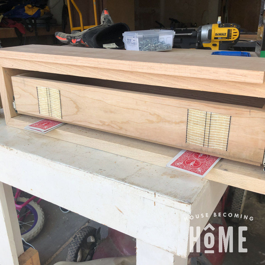 Tricks for Installing Drawer Fronts - Using Tape and Cards