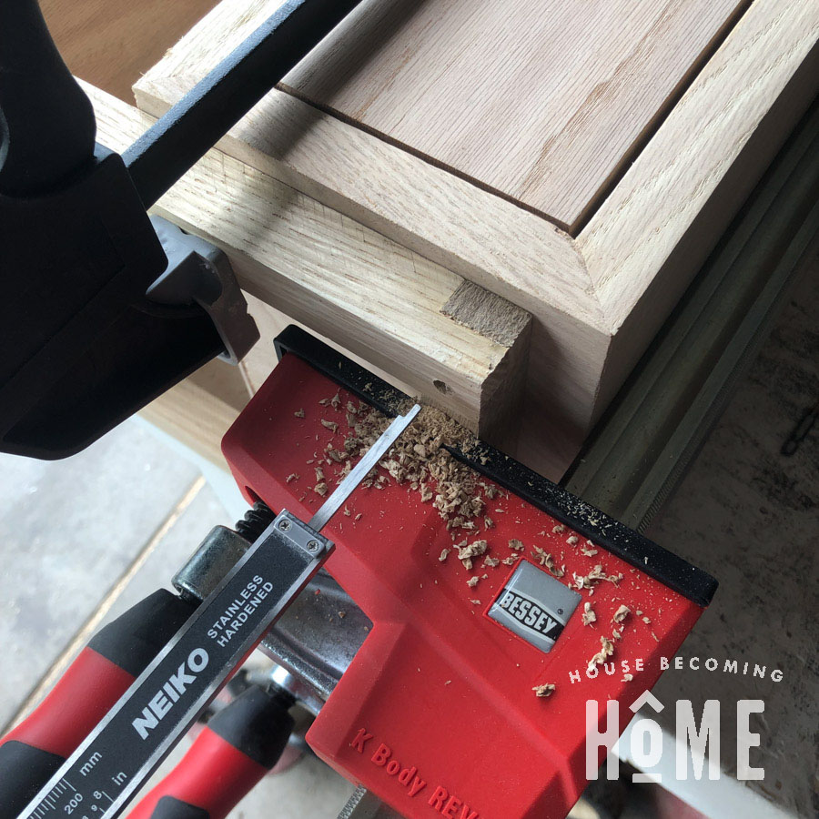Attaching Legs to the Side of the Floating Nightstand Measure